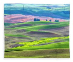 The Color Palette Of The Palouse Fleece Blanket