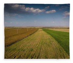 The Colored Fields Fleece Blanket