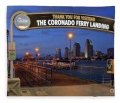 The Coronado Ferry Landing Fleece Blanket
