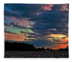The Cotton Field  Fleece Blanket