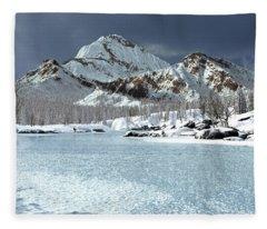 The Courtship Of Ice Fleece Blanket