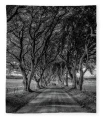 The Dark Hedges Fleece Blanket