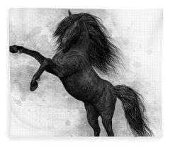 The Dark Horse Fleece Blanket