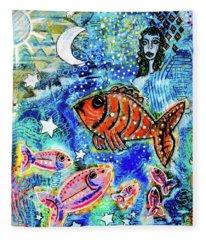 The Day The Stars Fell Into The Ocean Fleece Blanket