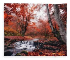 The Delights Of Late Autumn Fleece Blanket