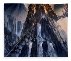 The Dragon Gate Fleece Blanket