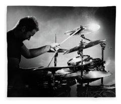 The Drummer Fleece Blanket