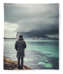 The Edge Of Europe Fleece Blanket