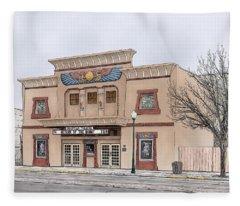The Egyptian Theatre Fleece Blanket