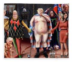 The Emperor And His Crazy House Fleece Blanket