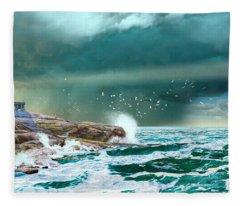 The Eye Of Neptune Fleece Blanket