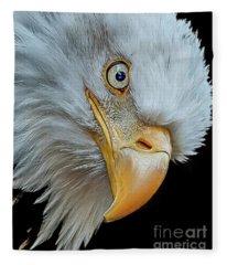 The Eye Of The Eagle Fleece Blanket