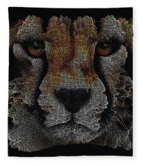 The Face Of A Cheetah Fleece Blanket