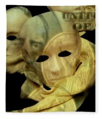 The Face Of Greed Fleece Blanket