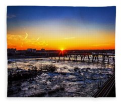 The Falls Of The James Fleece Blanket