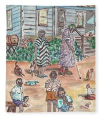 The Family On Magnolia Road Fleece Blanket