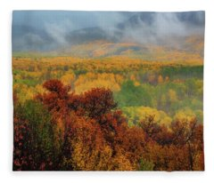 The Feeling Of Fall Fleece Blanket