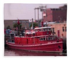 The Fireboat Edward M. Cotter. Fleece Blanket