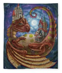 The First Dream Of A Celestial Dragon Fleece Blanket