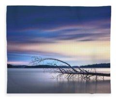 The Floating Tree Fleece Blanket