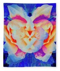 The Flower King Fleece Blanket