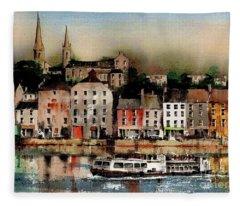 The Galley Off New Ross, Wexford Fleece Blanket