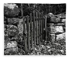 The Garden Entrance Fleece Blanket