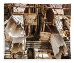 The Ghost Of Factories Past Fleece Blanket