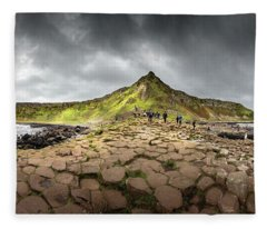 Fleece Blanket featuring the photograph The Giants Causeway by Chris Cousins