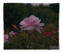 The Glowing Rose Fleece Blanket