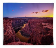 The Golden Canyon Fleece Blanket