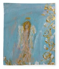 The Golden Child Angel Fleece Blanket