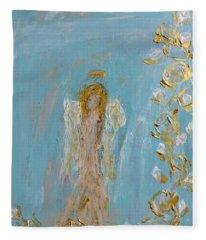 The Golden Child Angel Fleece Blanket