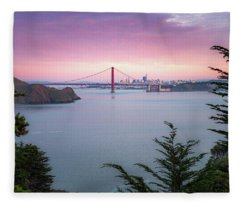 The Golden City  Fleece Blanket