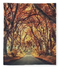 The Golden Path Fleece Blanket