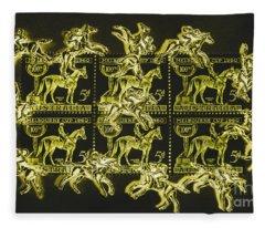 The Golden Race Fleece Blanket
