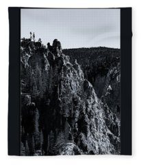 The Grand Canyon Of The Yellowstone Fleece Blanket