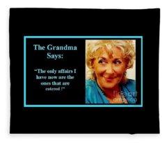 The Grandma's Affairs Fleece Blanket