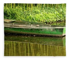 The Green Boat Fleece Blanket