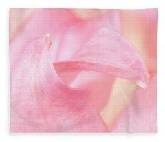 The Greetings Of The Petals Fleece Blanket