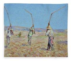 The Haymakers - Pierre Van Dijk 70x90cm Oil Fleece Blanket