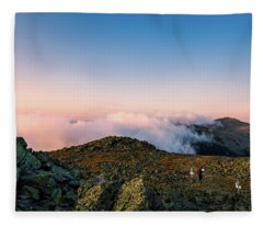 The Hiker - Mt Jefferson, Nh Fleece Blanket
