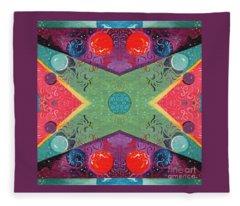 The Joy Of Design 51 Arrangement 1 Fleece Blanket