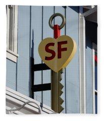The Key To San Francisco Fleece Blanket