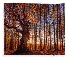 The King Of The Trees Fleece Blanket