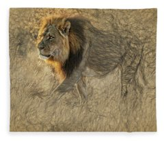The King Stalks Fleece Blanket