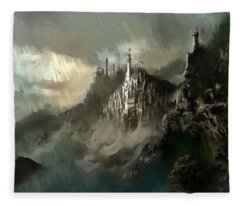 The Kingdom Of Minas Tirith Fleece Blanket
