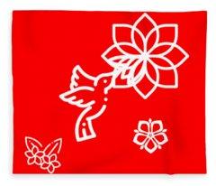 The Kissing Flower On Flower Fleece Blanket