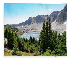 The Lakes Of Medicine Bow Peak Fleece Blanket