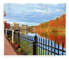 The Lamprey River Fleece Blanket